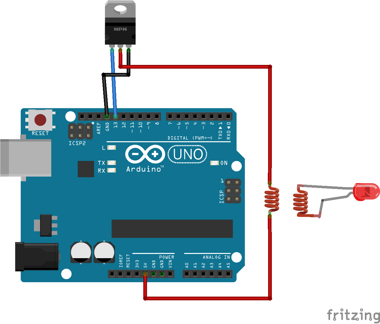 How To Build A Wireless Powered Led With Arduino Uri Shaked Medium Blinker Circuit Power