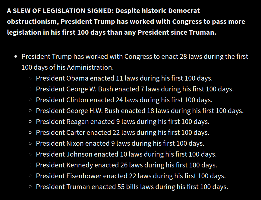 Setting the record straight: President Trump's first 100 days