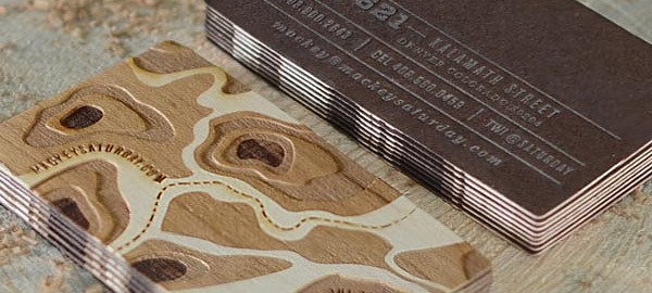 12 brilliant business card design ideas company folders inc medium wooden business cards are a throwback to the primitive days before paper was invented when people would carve messages into trees or onto rocks colourmoves