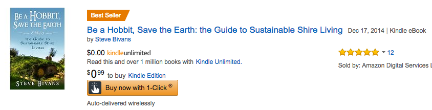 1 Amazon Best Seller! Be a Hobbit, Save the Earth!