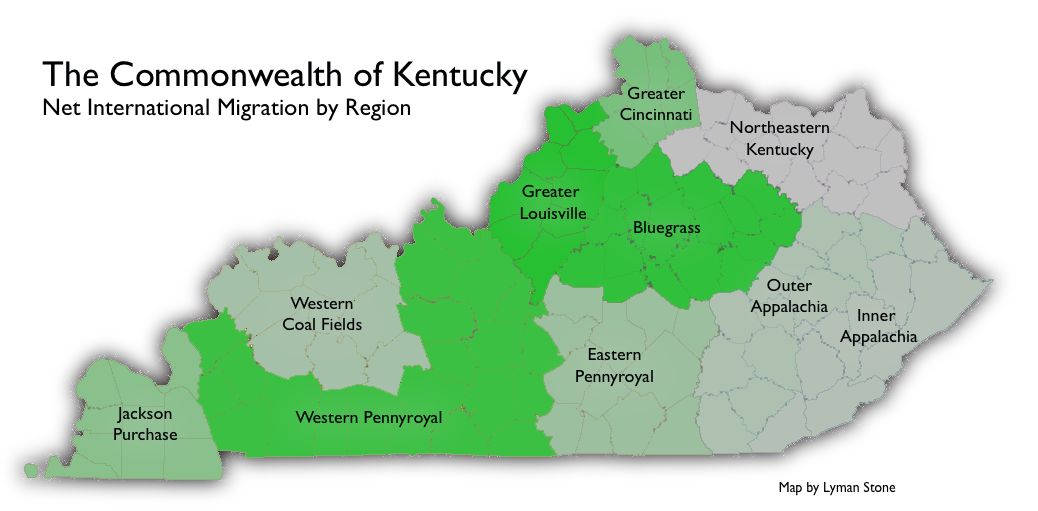 Mapping Migration In Kentucky A State Of Medium: Army Bases In Kentucky Map At Slyspyder.com