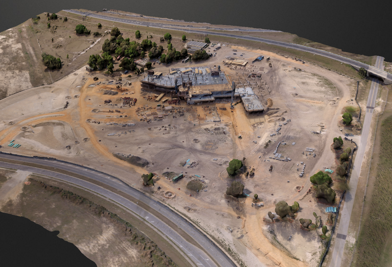Drone Helps Verify Earthwork At Hospital Construction Site