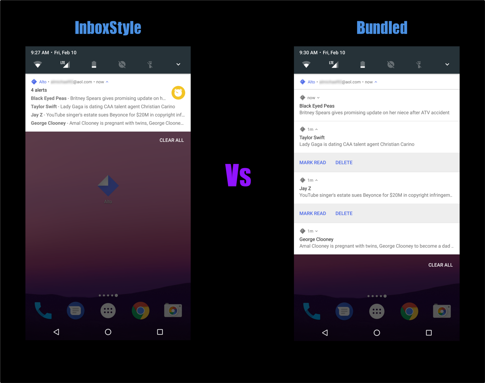 Inboxstyle Vs Bundled Notifications In Android