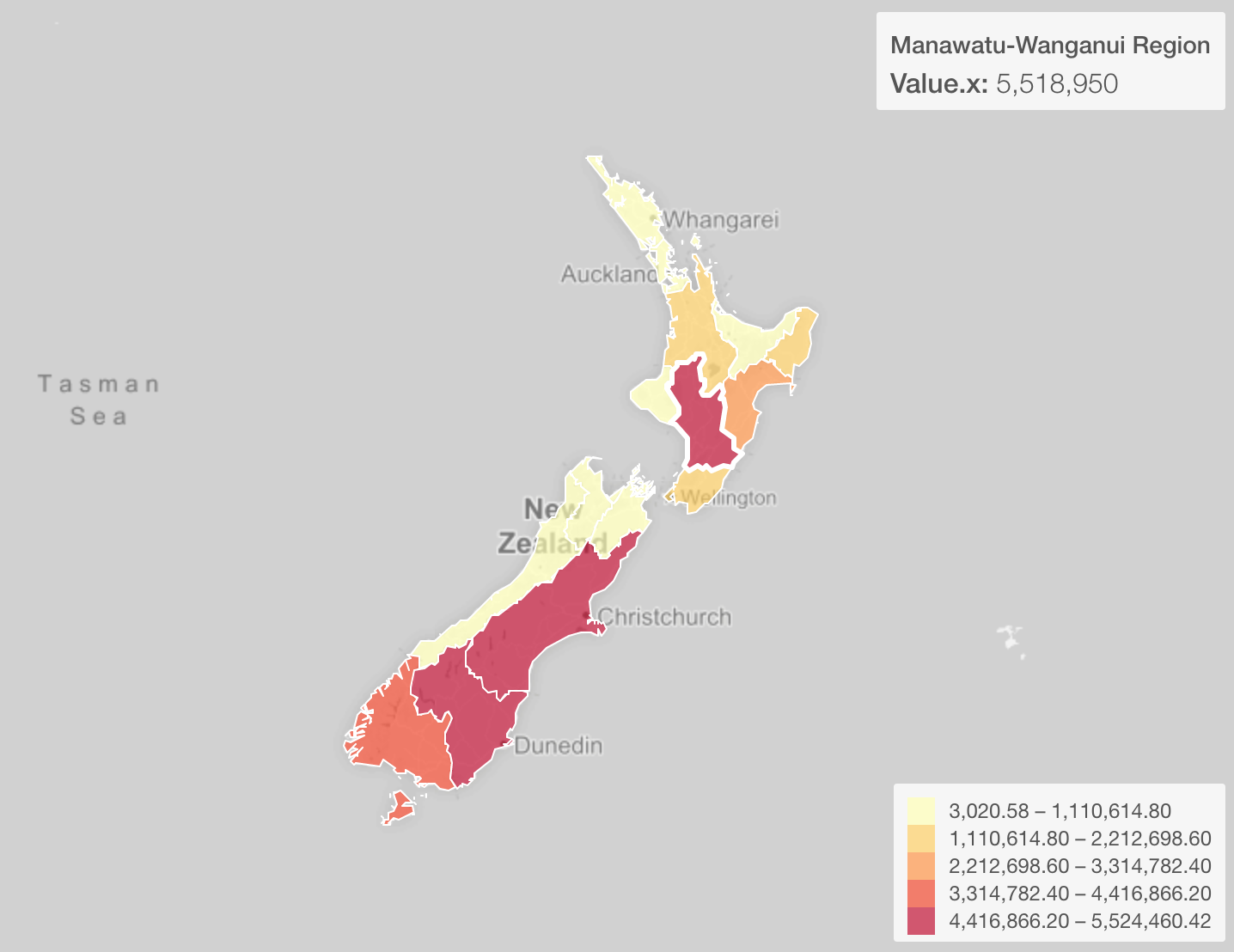 New Zealand Provinces Map.Are There Really More Sheep Than Human In New Zealand