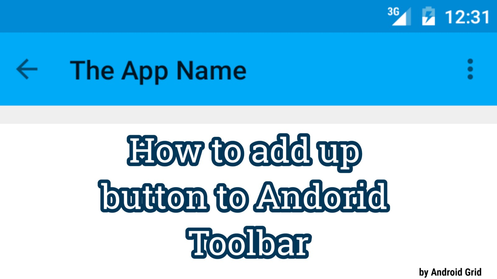 How To Implement Backup Button On Toolbar Android Studio