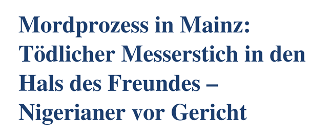 23yrs-old GERMAN Writing About Crime In German Newspaper Articles ...