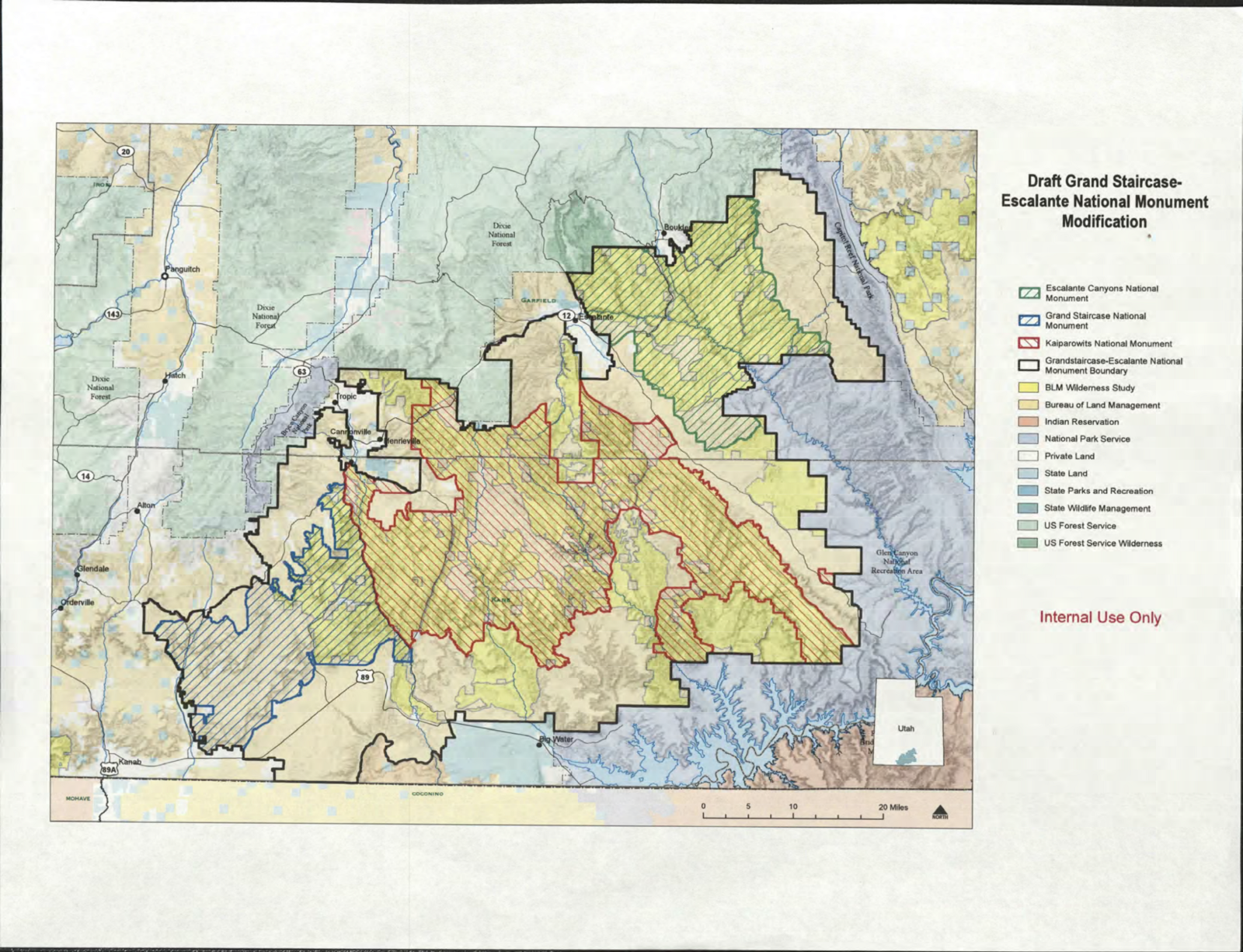 these maps leaked to the washington post show that president trump s proclamation would eliminate both bears ears l and grand staircase escalante r