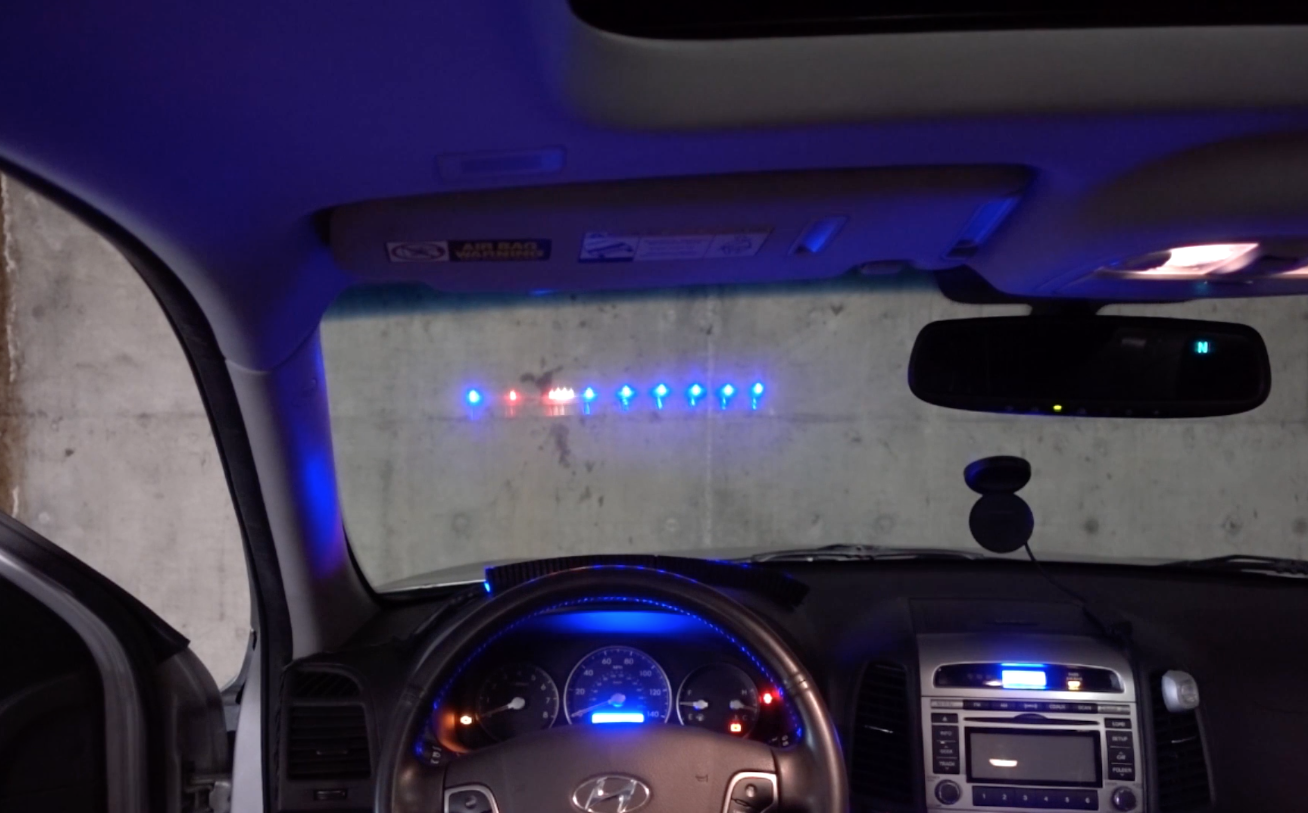 an led strip heads up display hud for your car. Black Bedroom Furniture Sets. Home Design Ideas