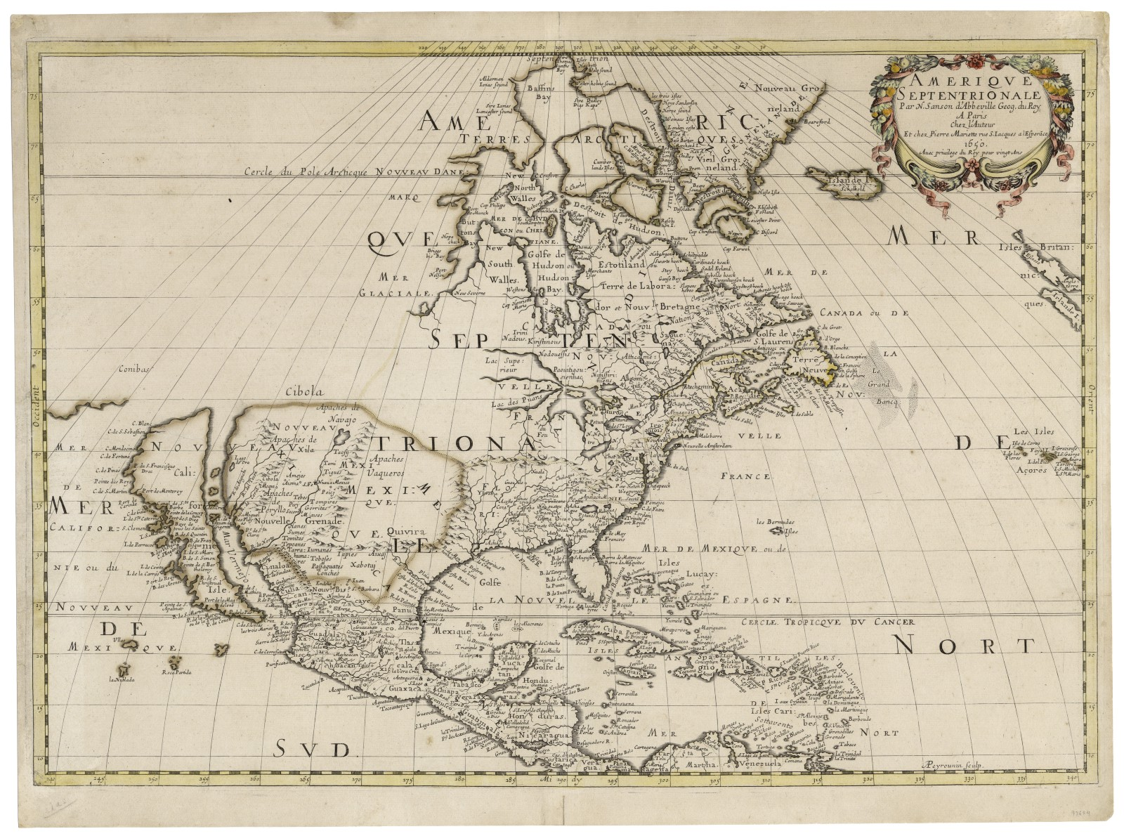 Amerique Septentrionale [North America], 1650