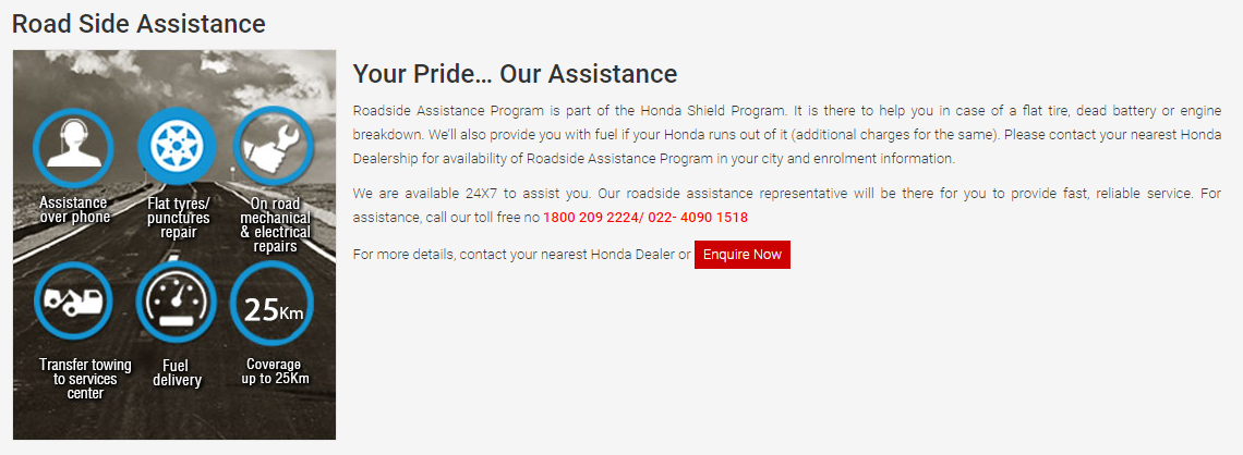 Honda Roadside Assistance. Honda (HMSI) Has Been Doing Quite Well Since It  Split Up With Indiau0027s And The Worldu0027s Largest Motorcycle Brand In Terms Of  ...