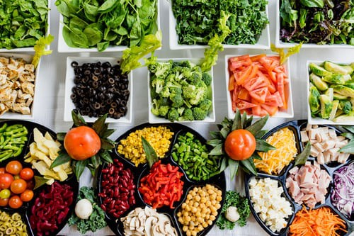 A great keto diet idea is a salad bar complete with protein and healthy fats