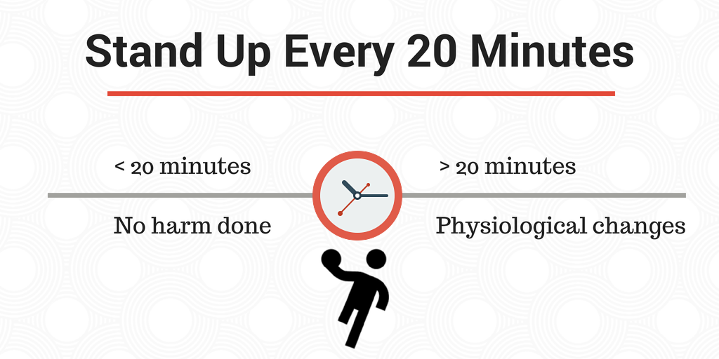 Stand up every 20 minutes tips
