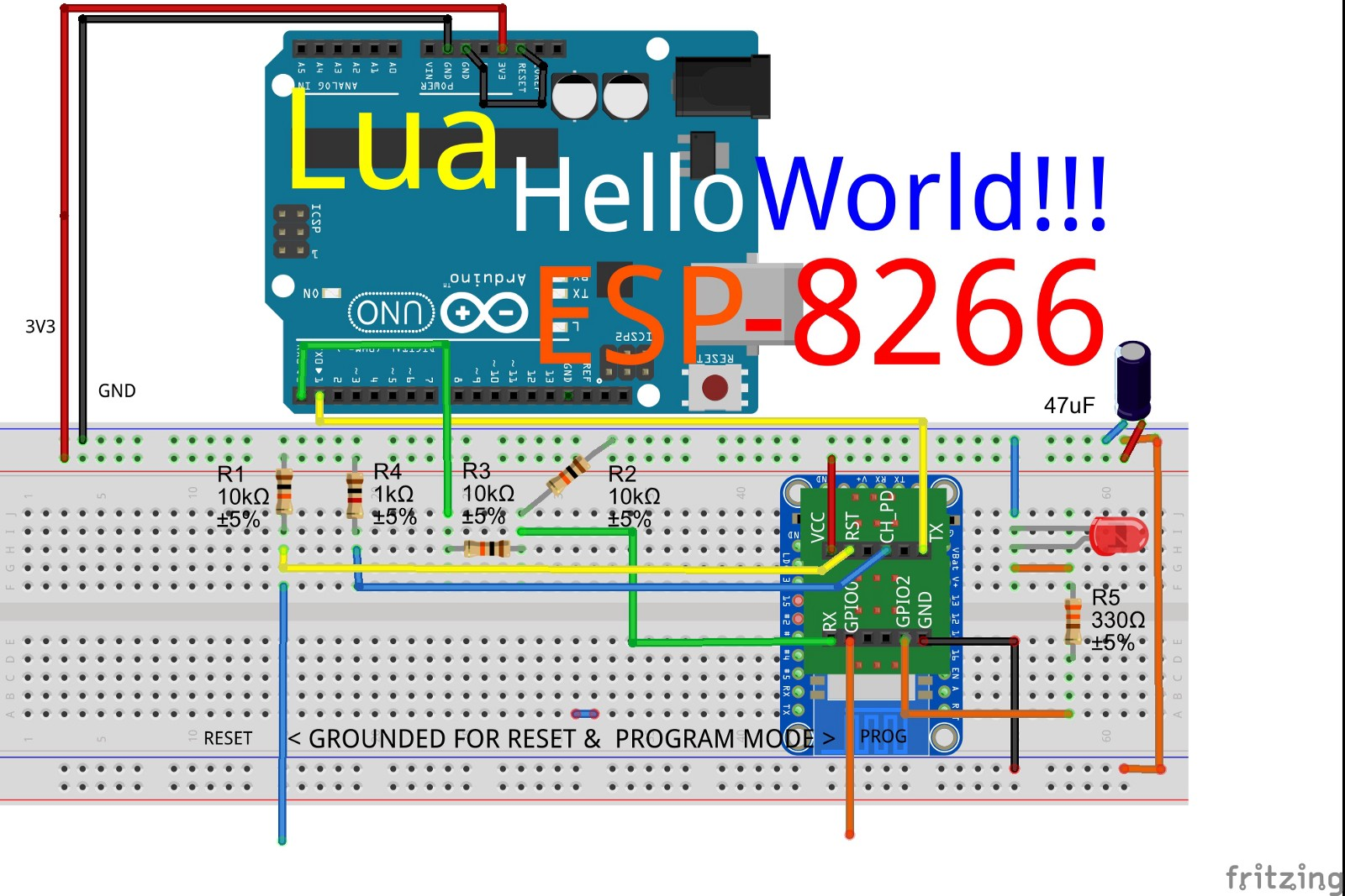 Your First Nodemcu Lua Script Flash On Esp8266 Jungletronics You Now Have A Simple Flashing Led Circuit Here Is The Schematic To New Firmware Need