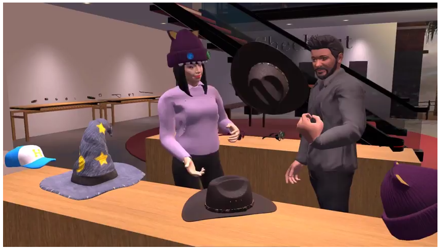Technologies behind the Social Shopping VR Experience in High Fidelity
