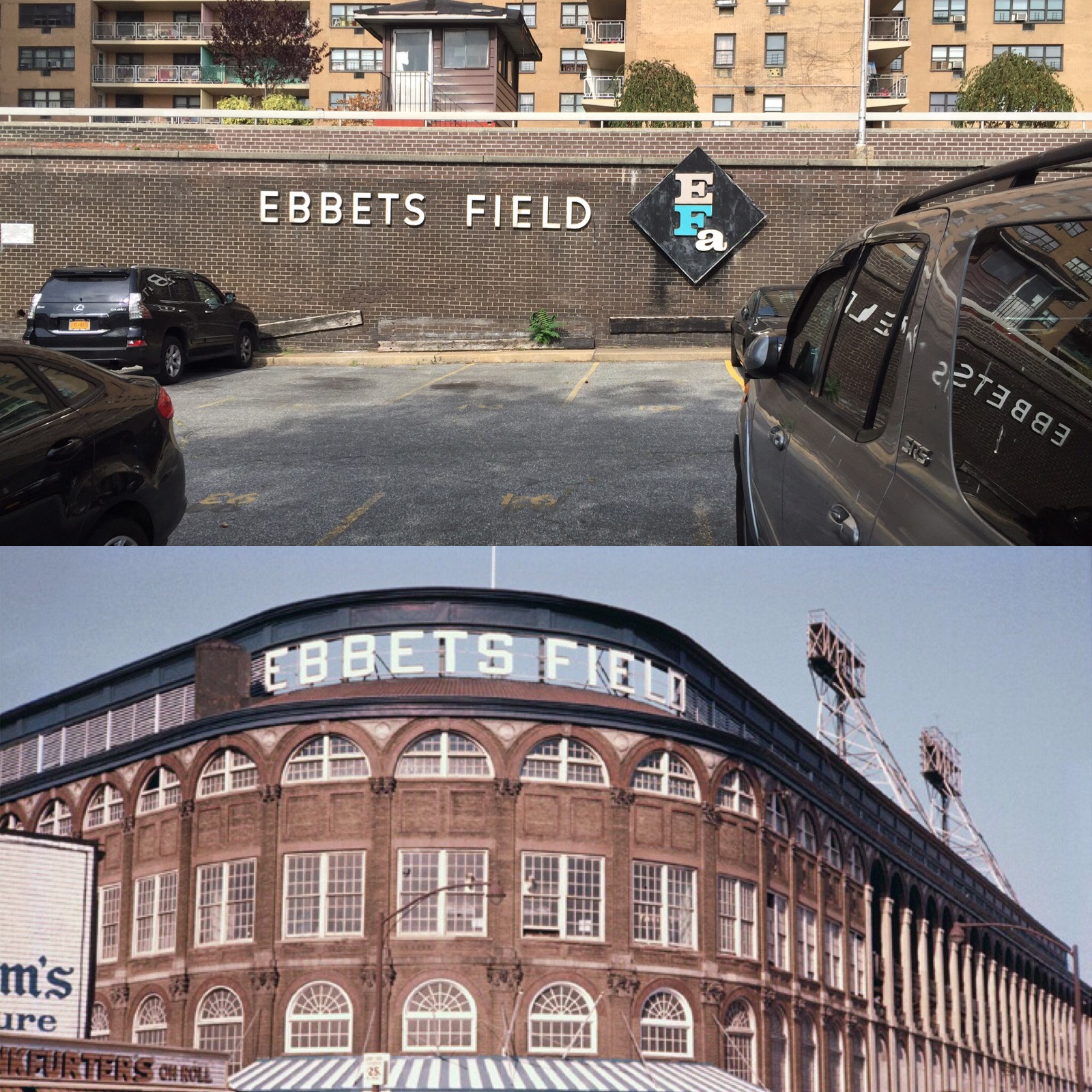 Ebbets Field Then And Now