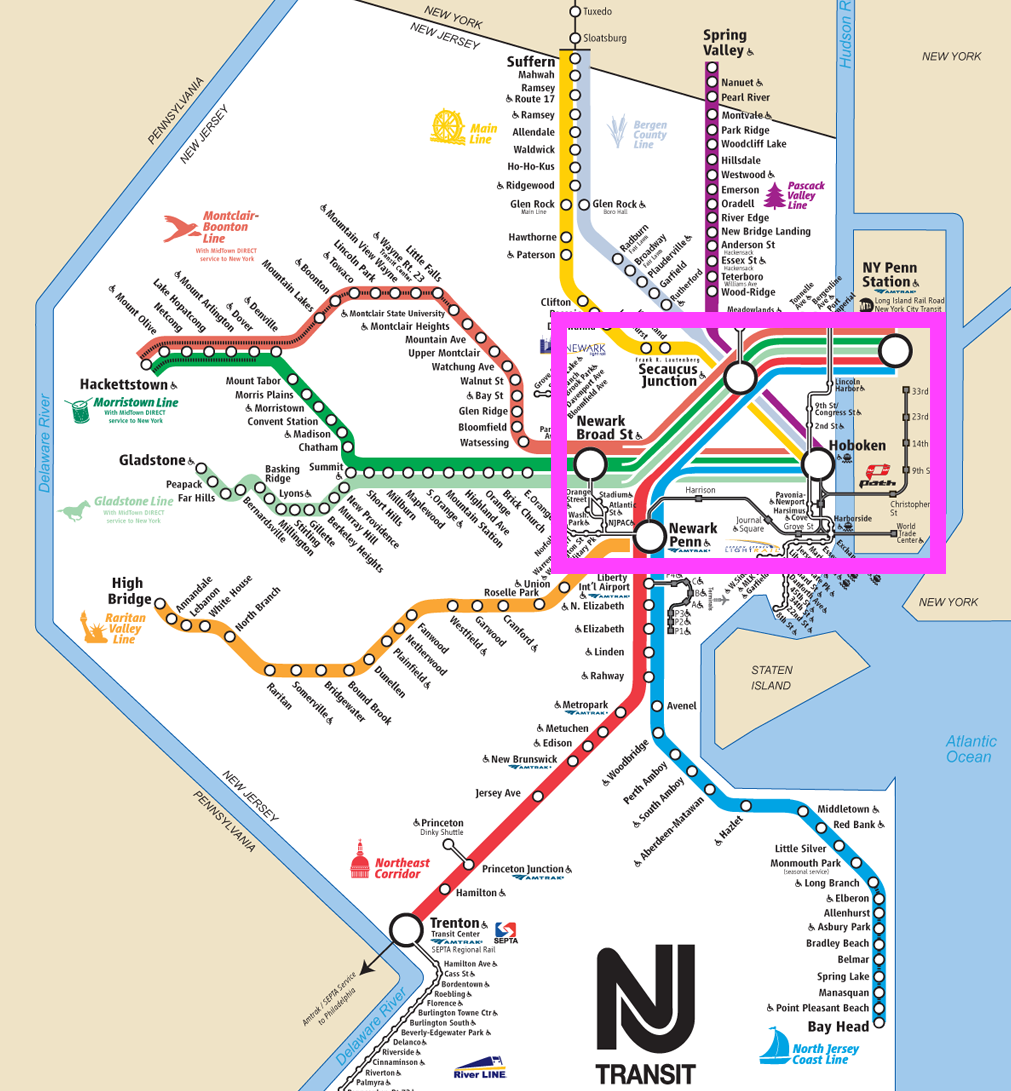 New Jersey Transit Map The 5 Stages of a System Breakdown on NJ Transit – Towards Data  New Jersey Transit Map