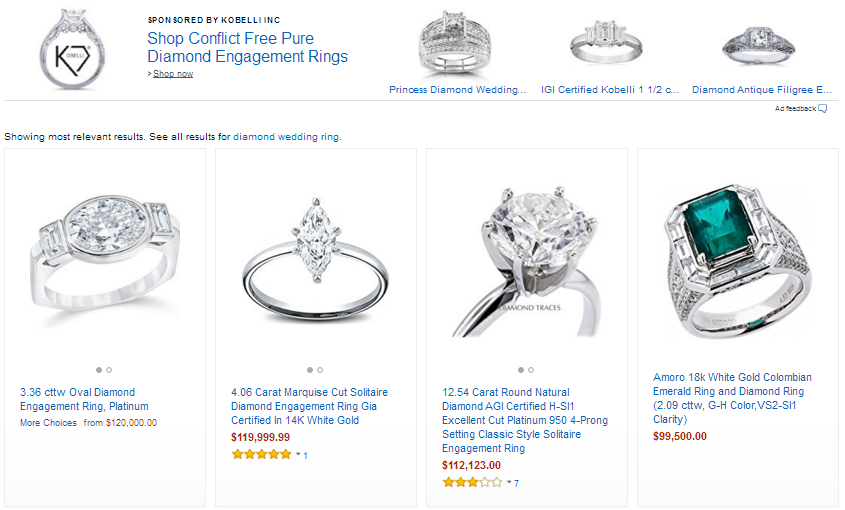 Should Good Diamond Wedding Rings Cost Over Hundred Thousand Dollars