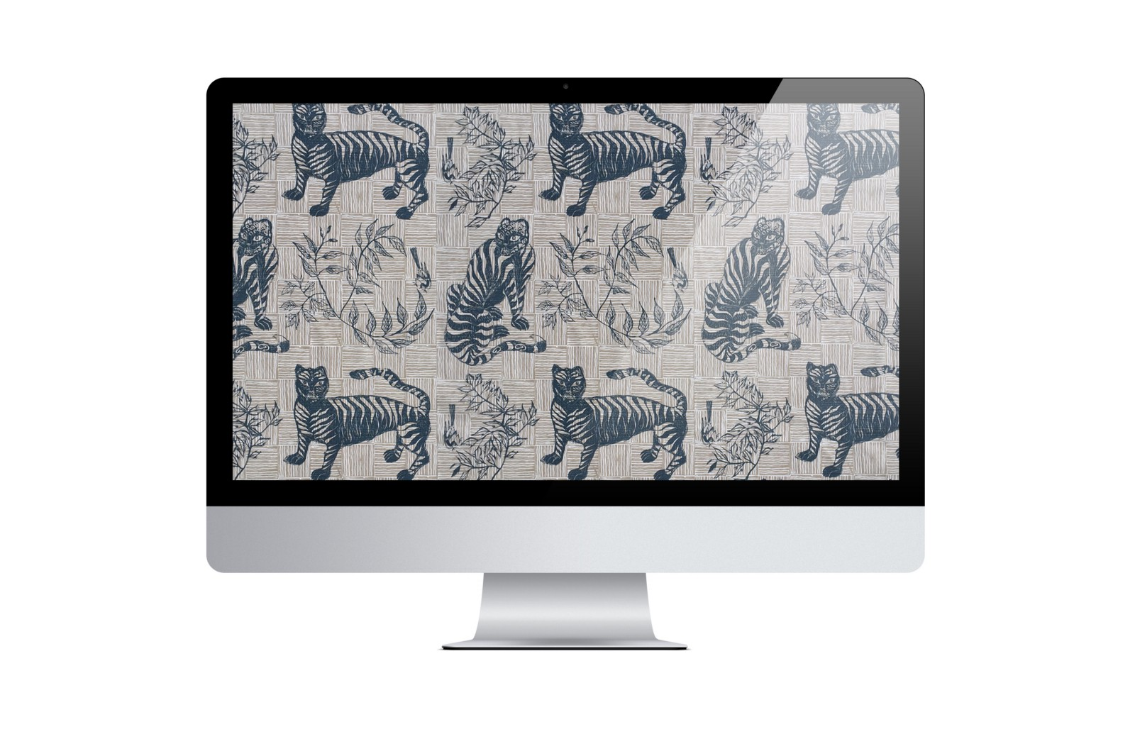 Tiger & Magpie in Deep Blue