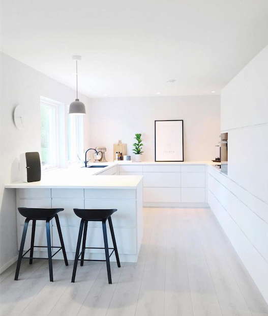 This Room Has Subtle Lines On The Floor And Side Units That Guide You Into  The Kitchen. The Bar Stools Can Slide Underneath The Bar To Keep Them Out  Of The ...