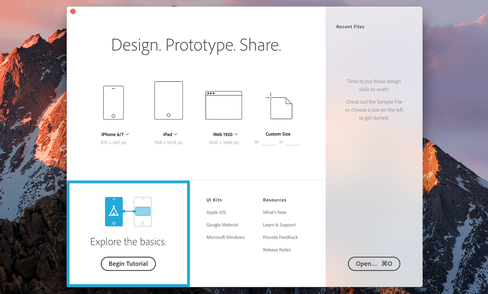 Explore the basics, by Adobe XD
