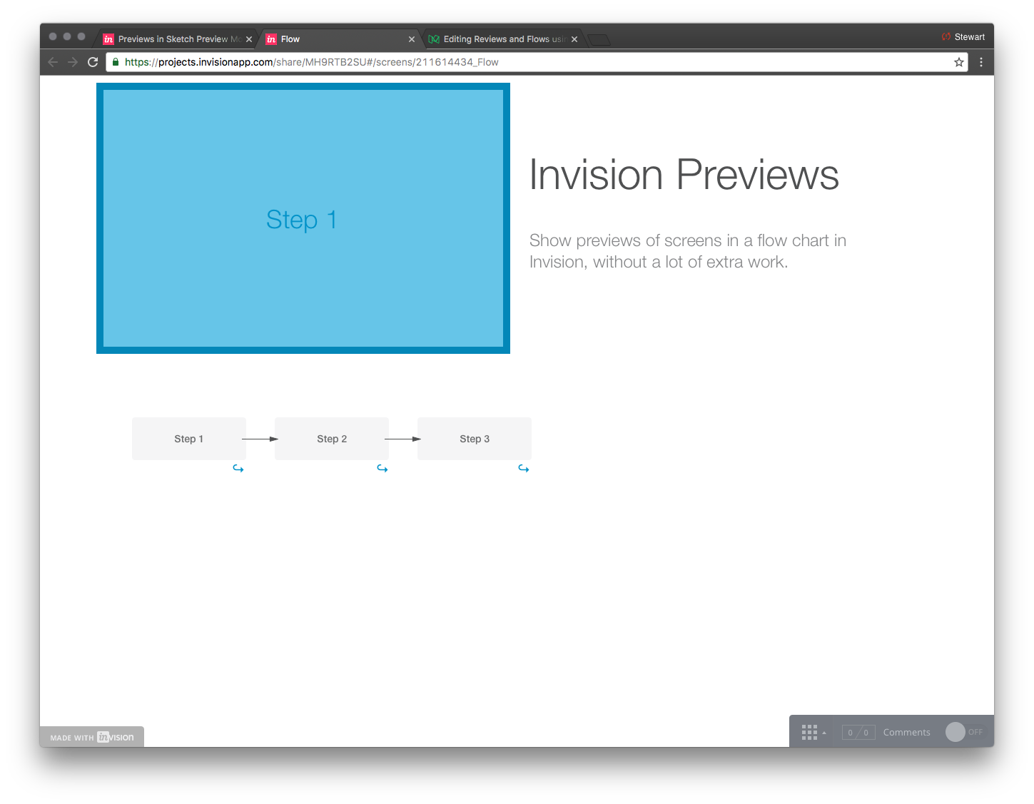 Previews and Flows using Invision and Sketch – Prototypr
