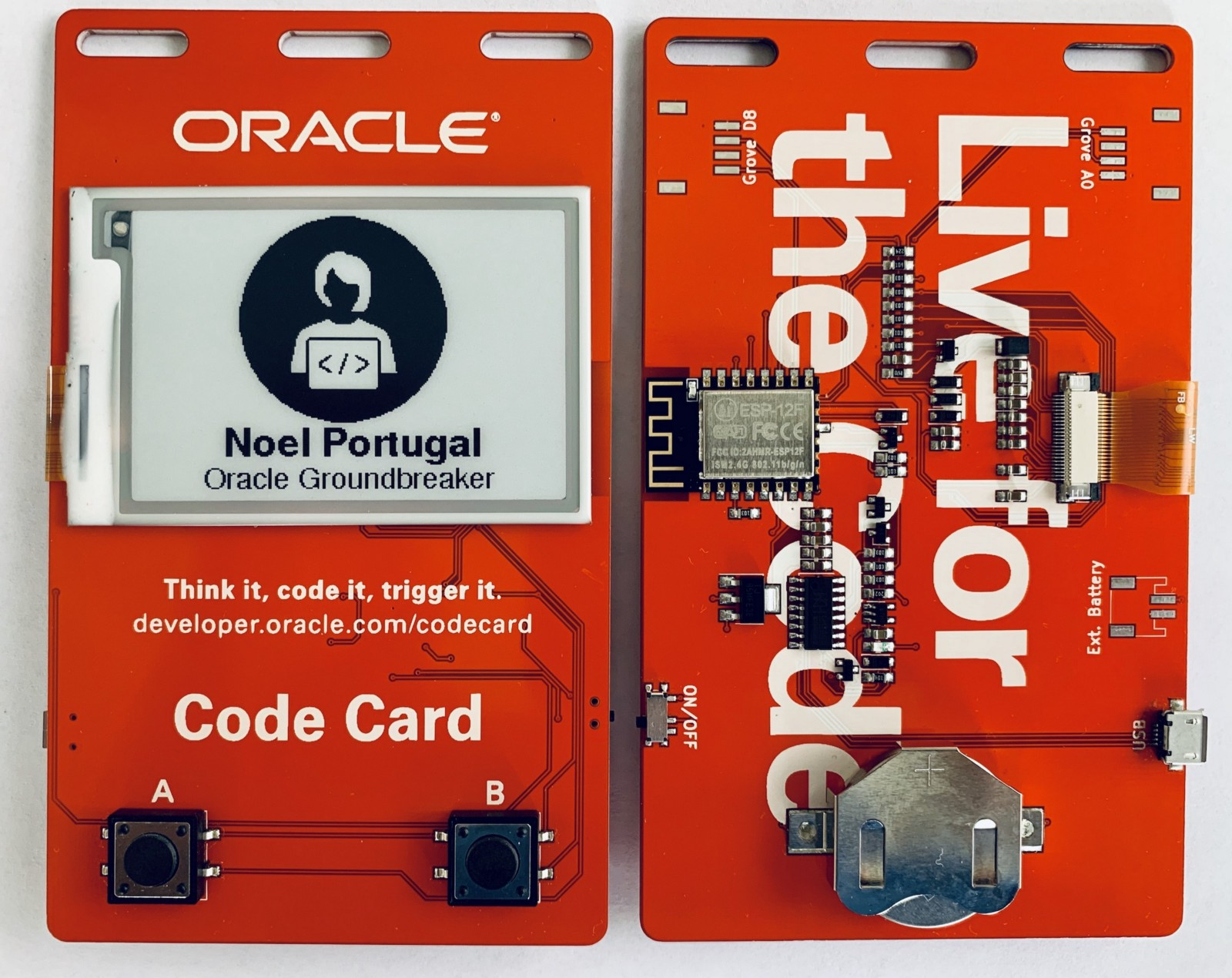 Task An Esp8266 To Build Iot Code Card Badge Hackster Blog Electronic Circuits The Oracle Can Be Used For Identification And As A Demonstration Platform Highlight Your Talent Noel Portugal