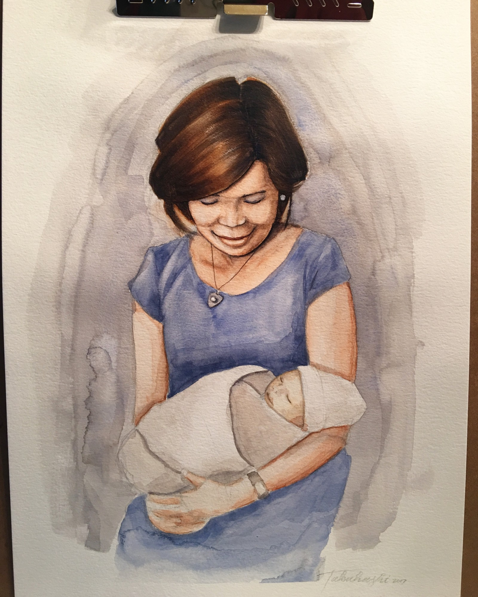watercolor portrait using a limited palette step by step