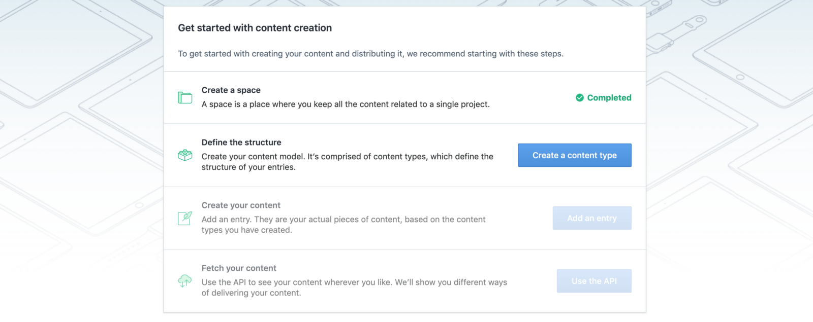 Create a content type