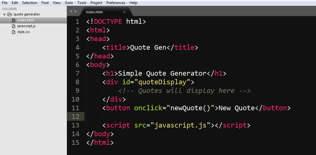Quote Generator Interesting How To Build A Random Quote Generator With Javascript And Html
