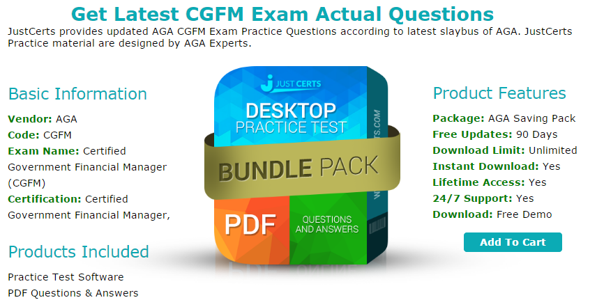 Cgfm Certified Government Financial Manager Exam Questions Updated