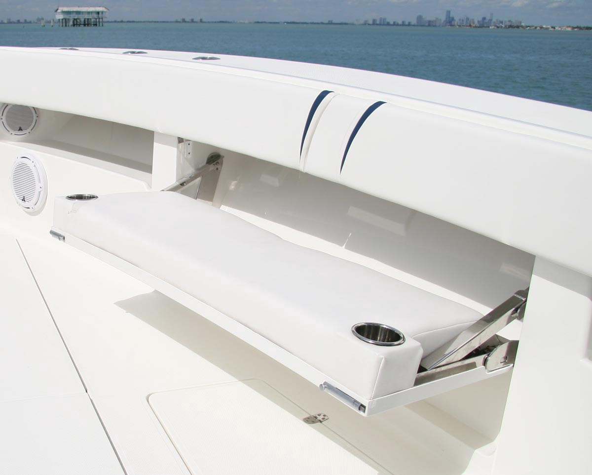 The Seats Fold Up And Down When We Need Them That Means Deck Is Completely Free For Fishing Adventures As Well Cruising