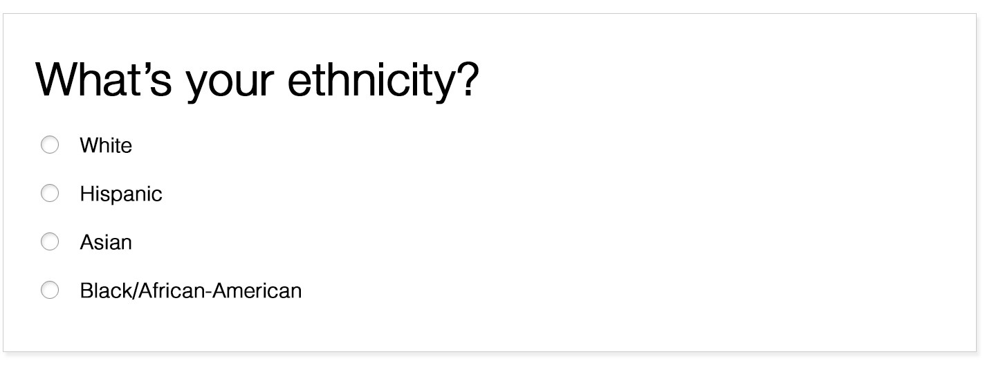 The Frustrating User Experience Of Defining Your Own Ethnicity