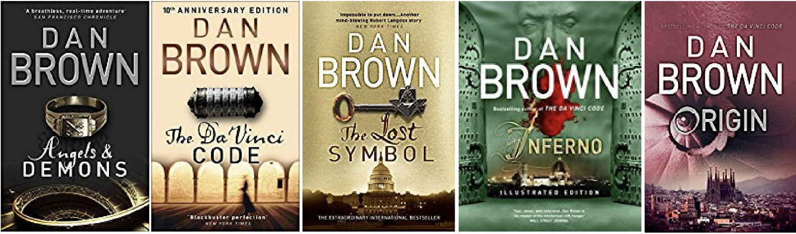 Image result for robert langdon series
