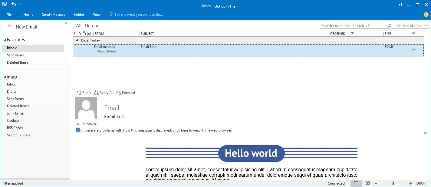 how to add a background in outlook email