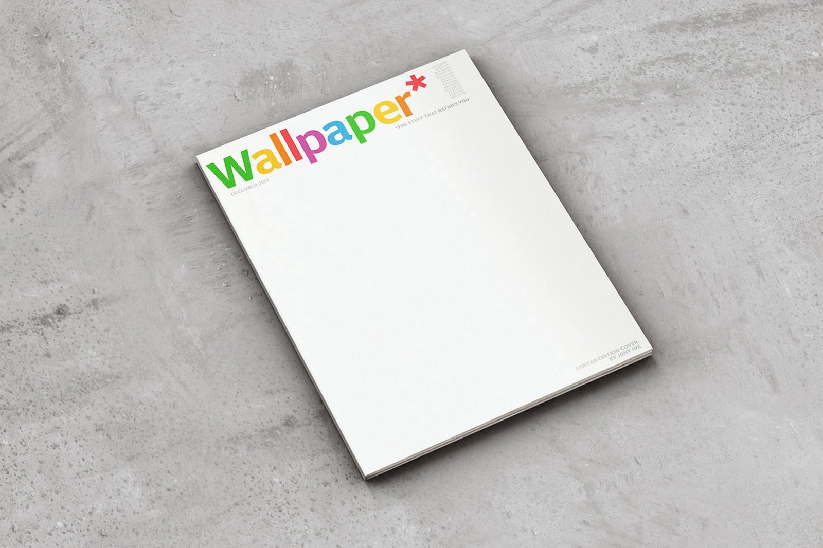 Wallpaper Magazine December Issue