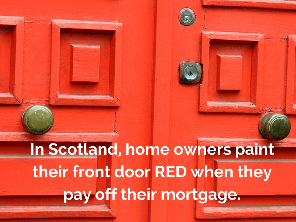 Homeowners In Scotland Paint Their Front Door Red In Order To