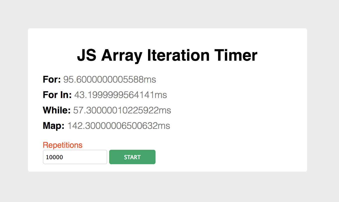 how to run a function on an array javascript