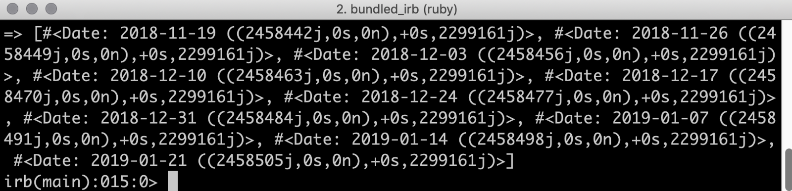 How to quickly get the dates for the first 10 Mondays using Ruby