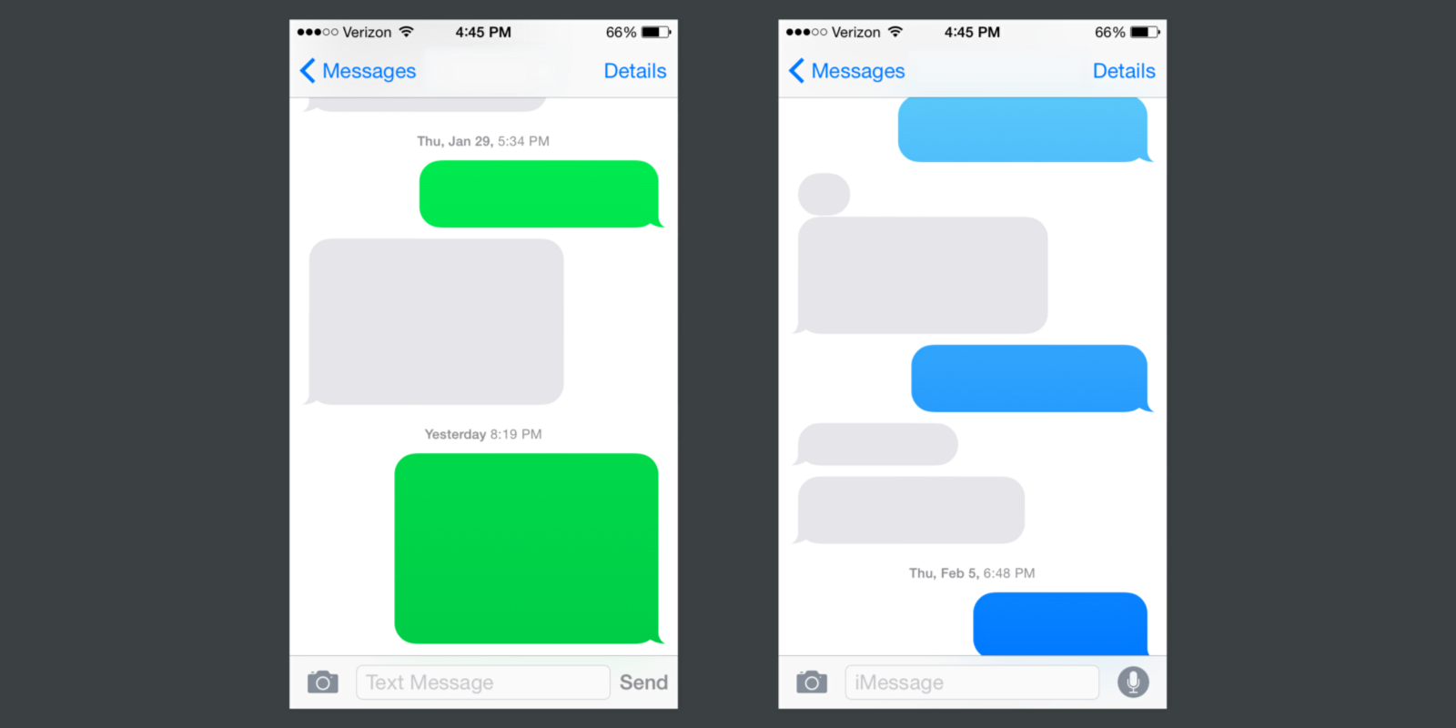 iphone to android imessage on colors gradients and chat bubbles eli schiff medium 15488
