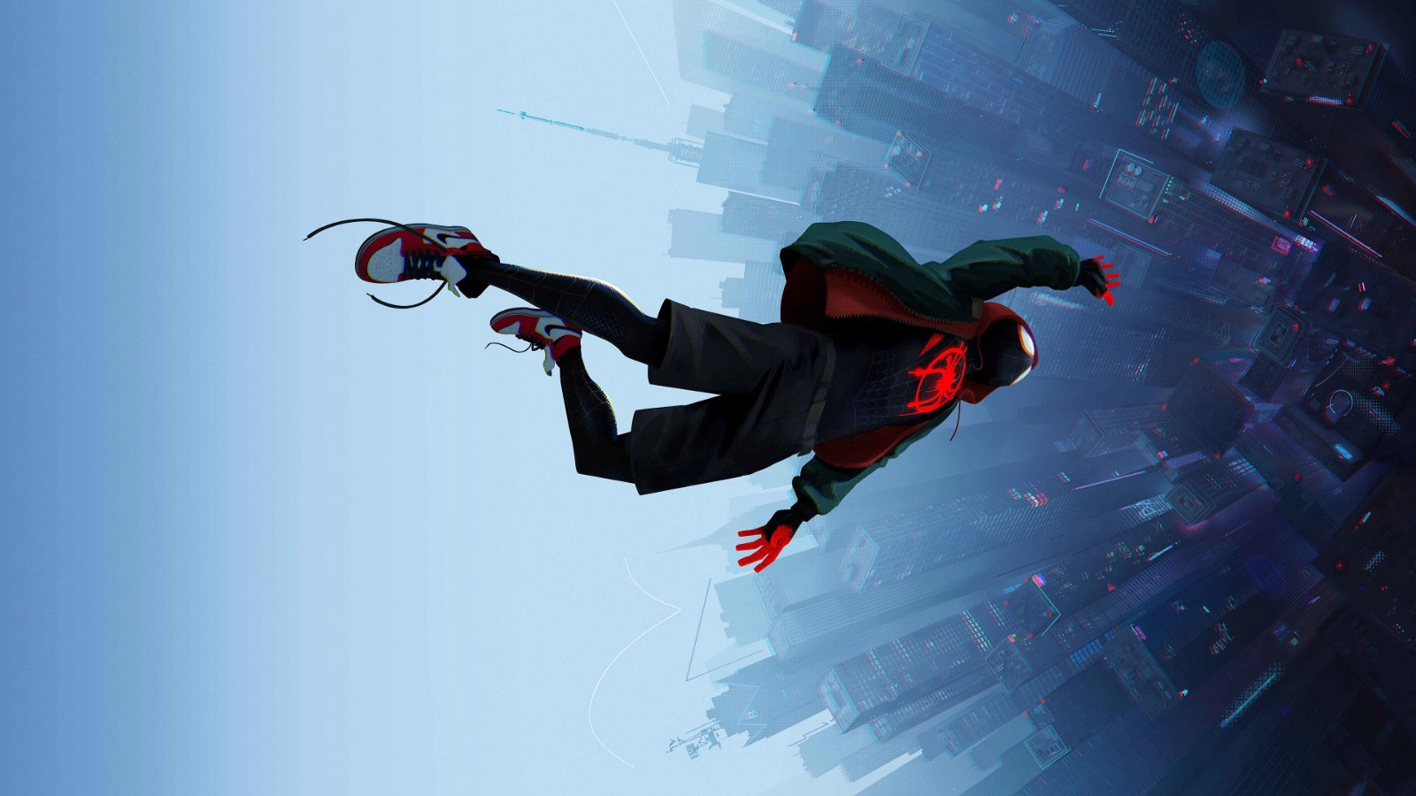 Spider-Man: Into The Spider-Verse miles falling with style