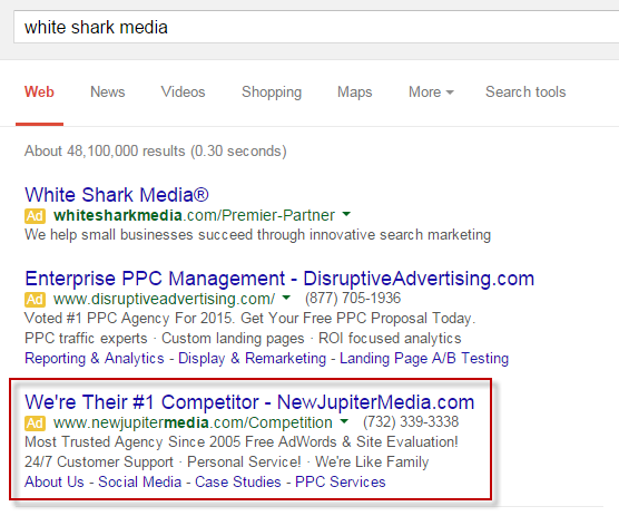 Should You Be Bidding On Your Competitors Brand Keywords In Search