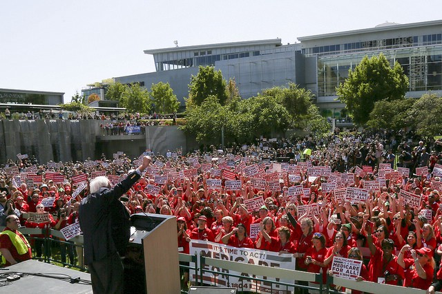 In solidarity with Sen. Sanders, nurses across America are turning up the heat on Medicare for all.