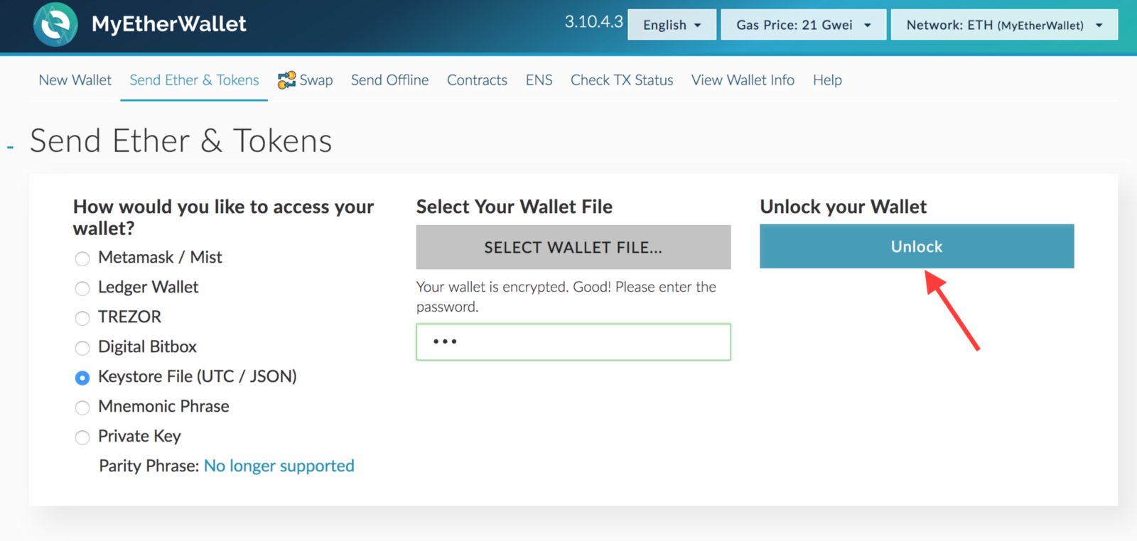 Trouble Sending Out Ether On Trezor Mytetherwallet Bitcoin