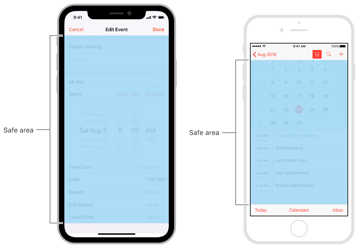 layout guide margins insets and safe area demystified on ios 10 11