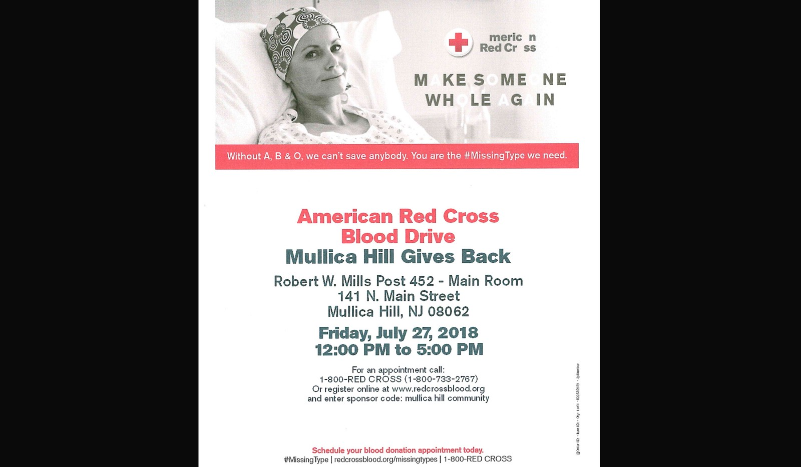 Mullica Hill Gives Back Blood Drive On July 27 Seeking Donors