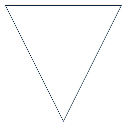 Among the super simple things that they teach in journalism school there is the super simplest thing of all. It's called the upside down triangle.