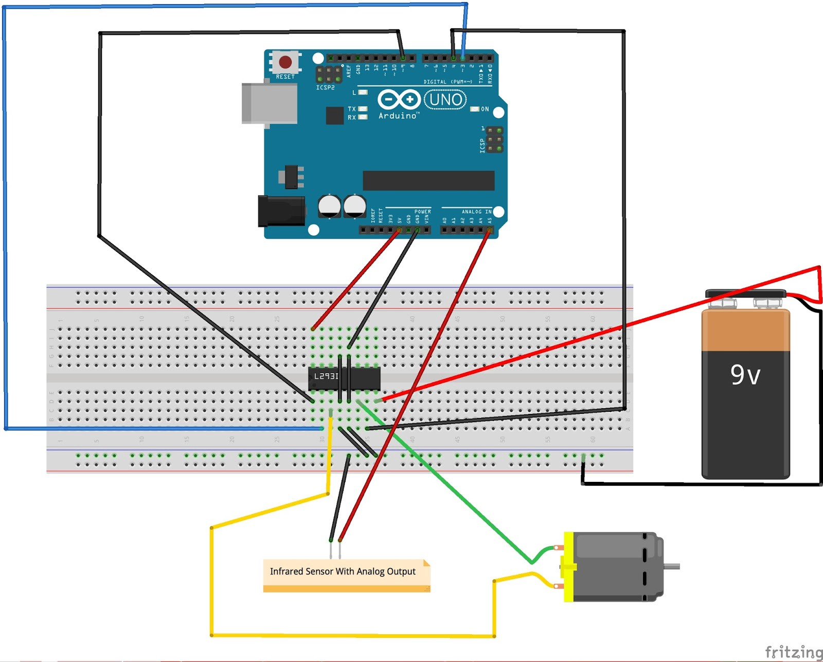 Infrared Based Circuits Dc Motor Control Using Arduino Uno And Ir Sensor Naga Surya Circuit For Controlling A With