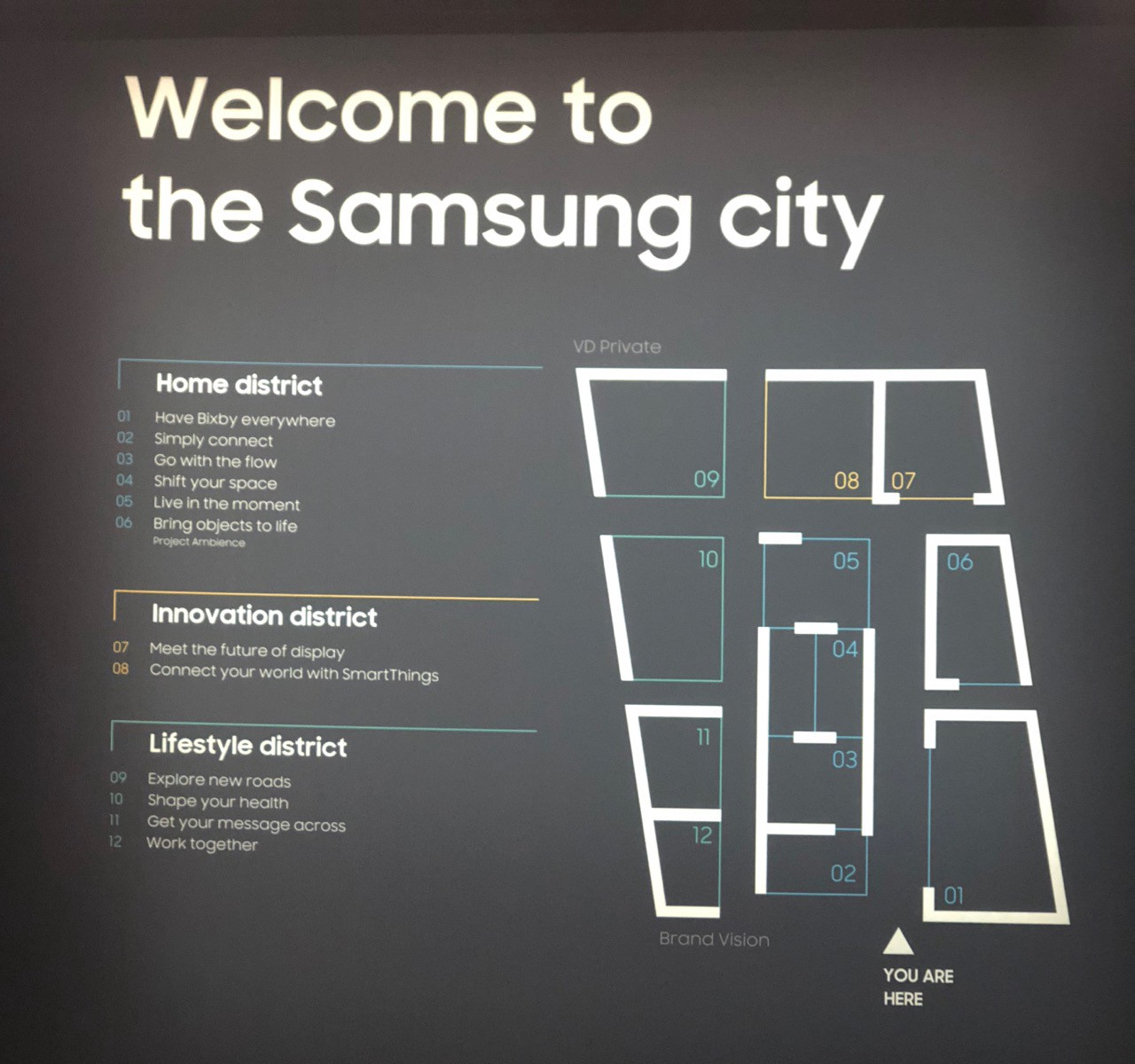 These Are The Maps For The Lg And Samsung Booths Included Just To Gibe A Sense Of Scale And Breadth