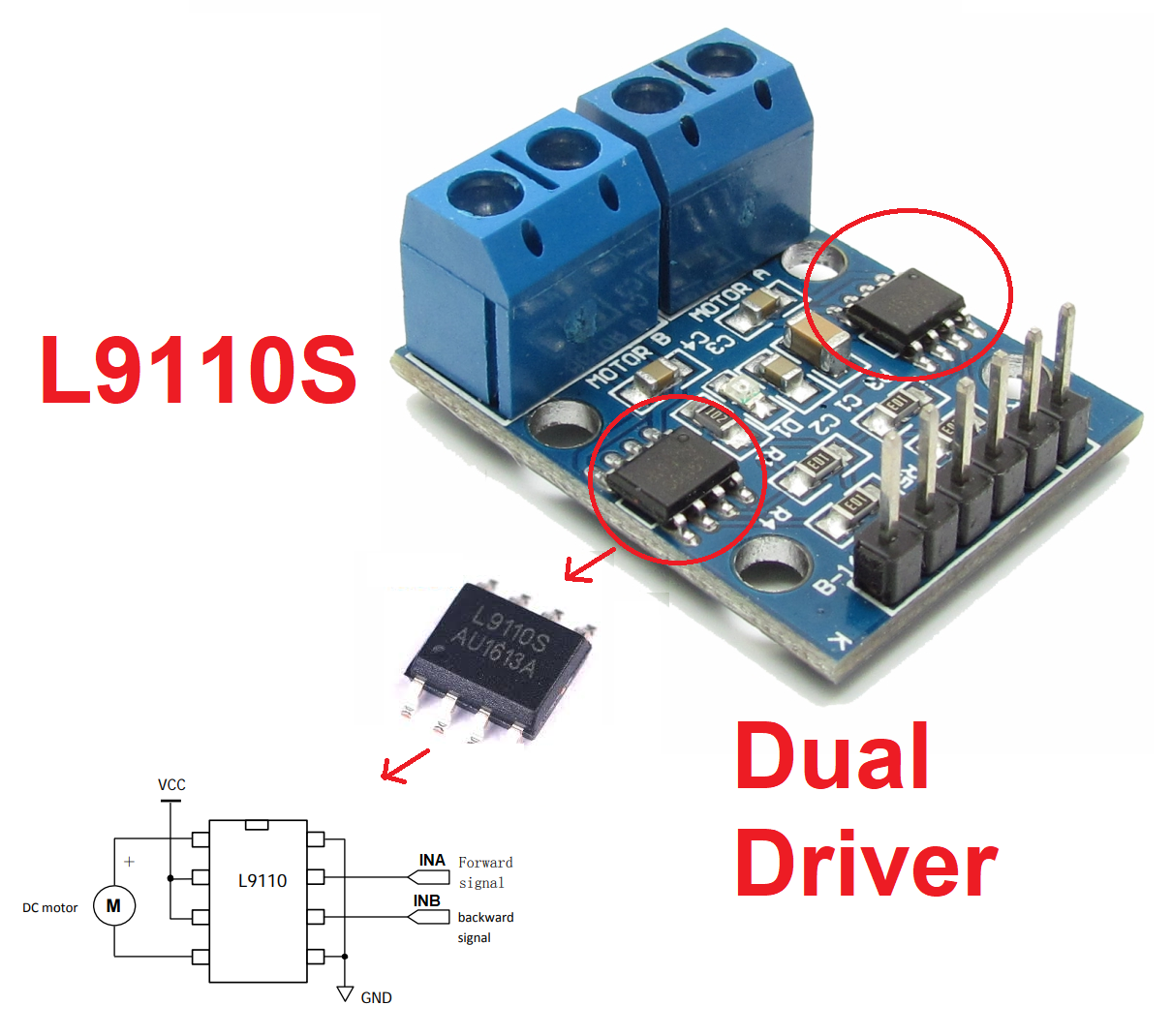 L9100s Toy Driver Easy To Use Jungletronics Medium H Bridge Circuit Diagram Dc Motor Low Voltage