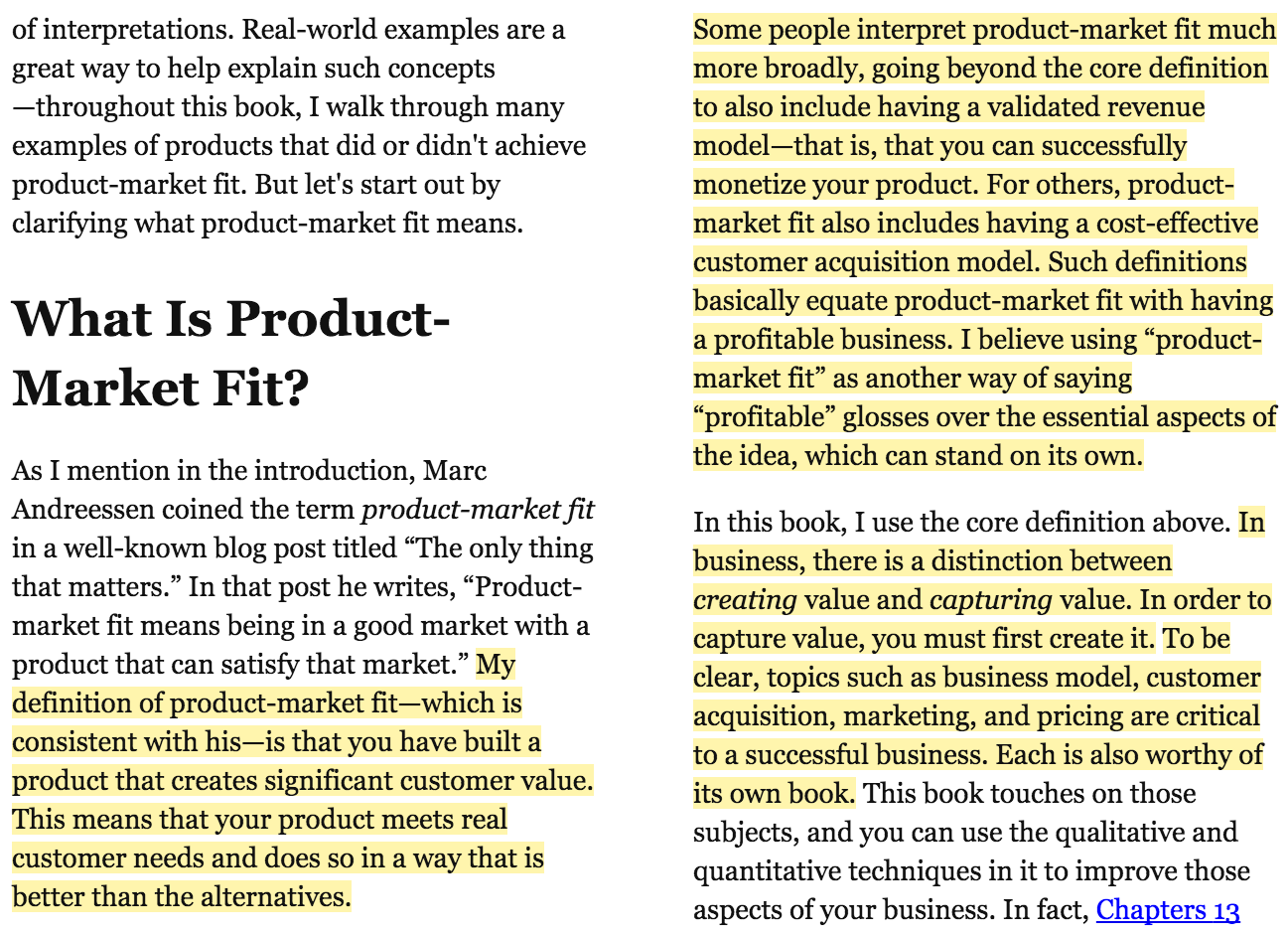 extract from the lean product playbook by dan olsen